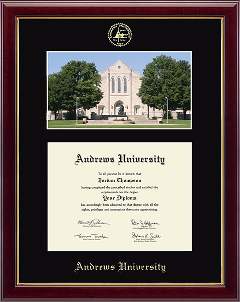 Campus Scene Diploma Frame in Gallery