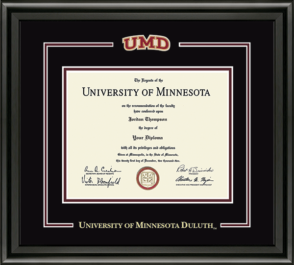 Spirit Medallion Diploma Frame in Midnight