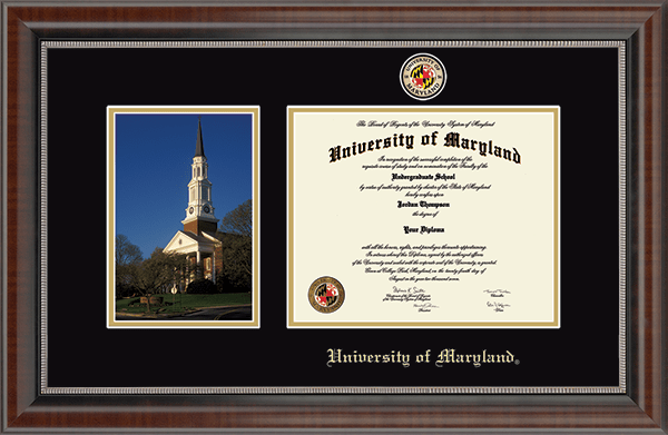 Memorial Chapel- Campus Scene Masterpiece Diploma Frame in Chateau