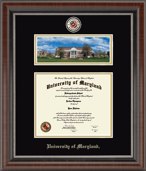 McKeldin Library- Campus Scene Masterpiece Diploma Frame in Chateau
