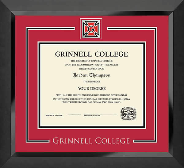 Spirit Medallion Diploma Frame in Eclipse