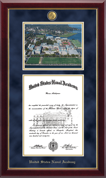 Campus Scene Masterpiece Diploma Frame - Aerial View in Gallery