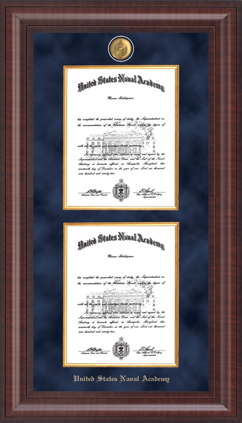 Presidential Masterpiece Double Diploma Frame in Premier