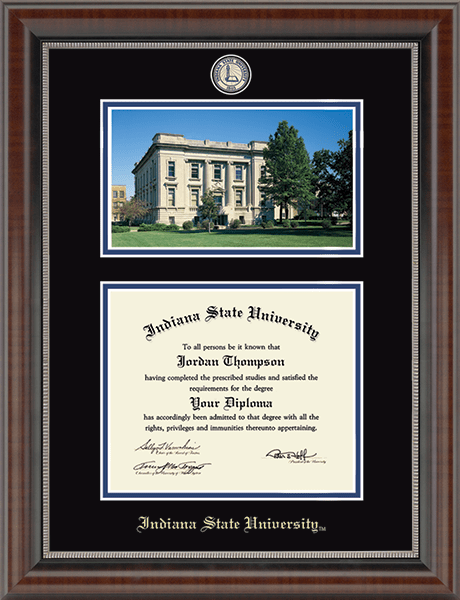 Masterpiece Medallion Campus Scene Diploma Frame in Chateau