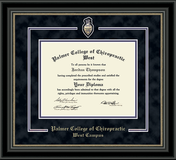 Spirit Medallion Diploma Frame in Noir