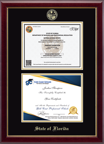 Double Certificate Frame in Gallery