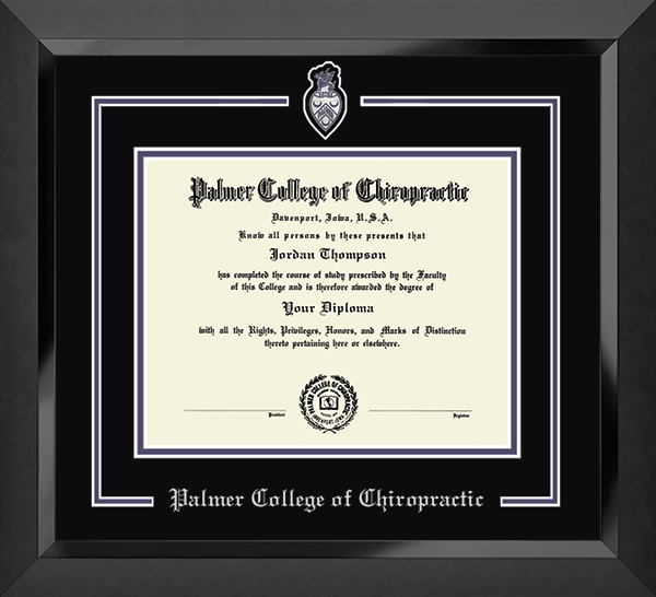 Pewter Spirit Medallion Diploma Frame in Eclipse