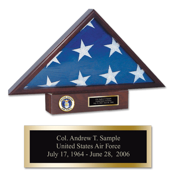 U.S. Air Force Memorial Medallion Flag Case