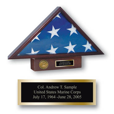 Memorial Medallion Flag Case