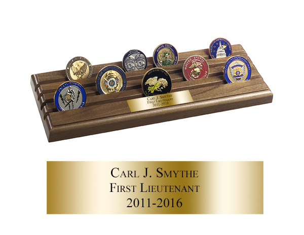 Shell Casing Coin Rack - 4 Rows