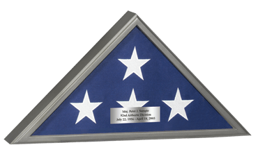 Memorial Honors Flag Case in Gunmetal Finish