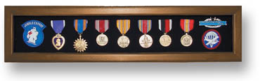 Medal Display Case - Heirloom Walnut
